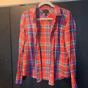 J. Crew Perfect Shirt Plaid size 8